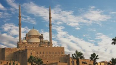 The Mosque of Muhammad Ali Pasha. Egypt. Time Lapse. — Stock Video