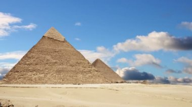 Great Pyramids of Giza. Cairo. Egypt. Time Lapse. — Stock Video