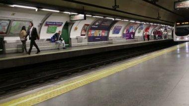 Madrid. Spain.  23.04.2015: Subway. — Stockvideo