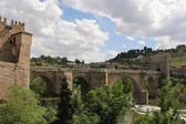 Toledo. Spain. San Martin's Bridge. — Stock Photo