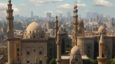 Mosque of Sultan Hassan. Cairo.  Egypt. Timelapse — Stock Video