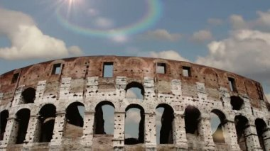 Colosseum in Rome, Italy. Time Lapse. — Stockvideo