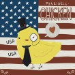 Patriotic chicken greeting card — Stock Vector #52474679