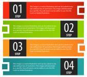 Boîte de bannière options infographie — Vecteur