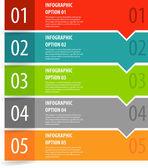 Infographics options banner steps. — Stock Vector