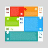 Infographics options banner steps set. — Stock Vector
