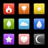 Random abstract flame — Stock Vector