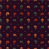 Halloween party skull background seamless pattern. — Stock Vector