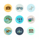 Travel icons set. — Stock Vector #79062064