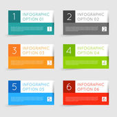 Infographics options banners set. — Stock Vector