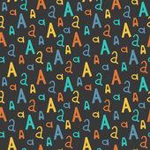 Modèle sans couture avec la lettre A — Vecteur