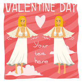 Happy valentine day greeting card — Stock Vector