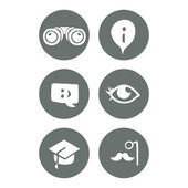 Travel and education social icons set. — Stock Vector