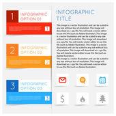 インフォ グラフィック オプション バナー セット. — ストックベクタ