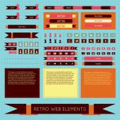 Retro vintage web elements set — Stock Vector