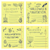 Halloween party postcard invitation set — Cтоковый вектор