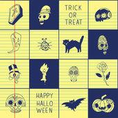 Cadılar Bayramı desen web sayfası için — Stok Vektör