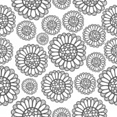 Patroon bloemen — Stockvector