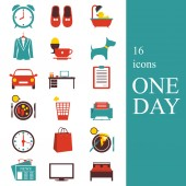One day — Stock Vector