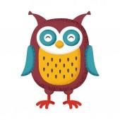 Bird Owl — Stock Vector