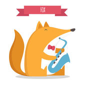 Fox animaux — Vecteur