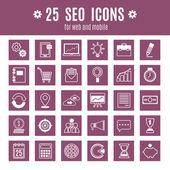 Icons Seo — Stock Vector