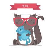 Zwierzę Skunk — Wektor stockowy