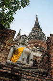 Buddha in ancient taple  — Stock Photo
