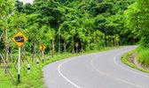Steep road traffic sign — Stock Photo