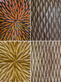 Pattern from Thai's color full pottery — Stock Photo