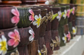 Flower on flowerpot — Stock Photo