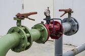 Colorfull water regulator valve — Stock Photo