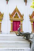Elephant sculpture in temaple — Stock Photo