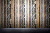Colorful old wooden wall — Stock Photo
