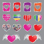 Colorful heart sign — Stock Vector