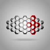 3d hexagon pattern — Stock Vector