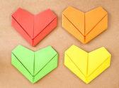 Colección de corazón de papel — Foto de Stock