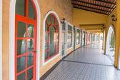 Beautiful public walkway europe style — Stock Photo