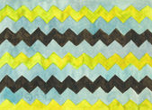 Watercolor background with zigzag stripes — Stock Photo