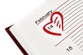 Valentine's Day Organizer — Stock Photo