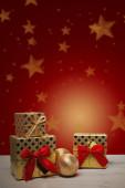 Праздничная рождественская открытка — Стоковое фото