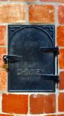 Cast Iron Chimney Door — Stock Photo
