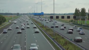 Highway in Amsterdam Timelapse — Stok video