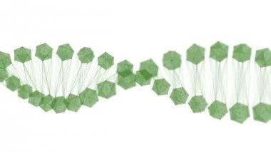 Dna Molecule Broke Animation — Video Stock