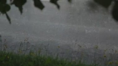 Rain on the road, Warshaw — Vídeo stock