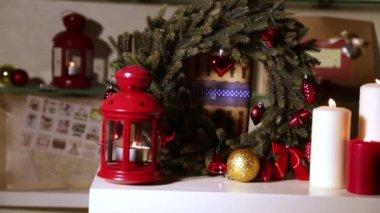 Julklappar med ljus — Stockvideo