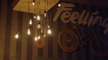 Interior of evening bar — Stock Video