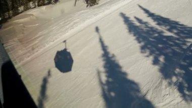 Ski chair lift shadow — Stock Video