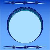 рамка-орнамент — Cтоковый вектор