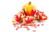 Ripe pomegranate  cutout  fruit — Stock Photo